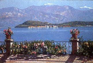 "Photo of ""A VIEW OF THE ISOLA BELLA, ITALY"" by ANGELO MORBELLI"