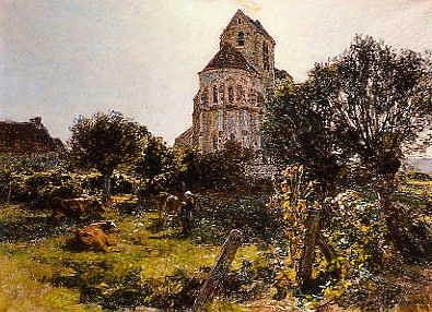 "Photo of ""A COUNTRY CHURCH"" by LEON L'HERMITTE"