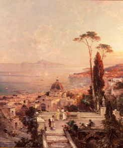 "Photo of ""TERRACE AT POSILIPO, NAPLES"" by FRANZ RICHARD UNTERBERGER"