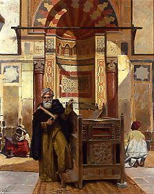 "Photo of ""BY THE MIHRAB (DIRECTION OF MECCA) IN A CAIRO MOSQUE"" by RUDOLPH ERNST"
