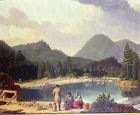 "Photo of ""THE OKKER VALLEY IN THE HARZ MOUNTAINS, GERMANY"" by WILHELM ECKERSBERG"