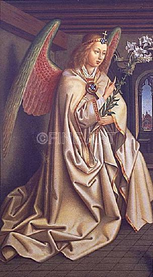 "Photo of ""ANGEL OF THE ANNUNCIATION"" by HUBERT & JAN VAN (CHROMO EYCK"