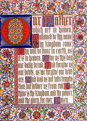 "Photo of ""OUR FATHER - THE LORD'S PRAYER - ILLUMINATION"" by CHARLES (FLOURISHED 18 ROLT"