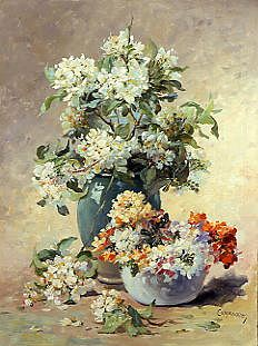 "Photo of ""A VASE OF SPRING BLOSSOM"" by EDMOND COPPENOLLE"