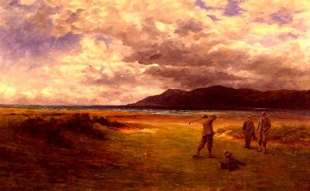 "Photo of ""THE DRIVE, CONWAY LINKS, NORTH WALES (GOLF)"" by DOUGLAS ADAMS"