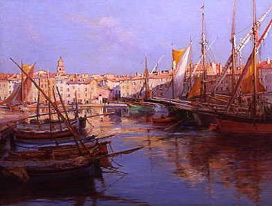 "Photo of ""PORT DE ST TROPEZ, COTE D'AZUR, SOUTH OF FRANCE"" by EMILE JOSEPH HUMBLOT"