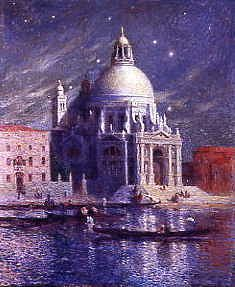 "Photo of ""VIEW OF VENICE, ITALY, BY NIGHT"" by FERNAND LOYEN DE PUIGAUDEAU"