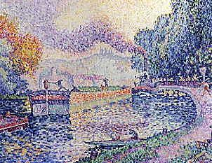 "Photo of ""AU BORDS DE LA RIVIERE"" by PAUL SIGNAC"