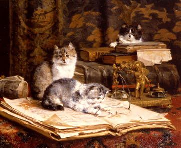 "Photo of ""MISCHIEVOUS KITTENS"" by CHARLES VAN DEN EYCKEN"