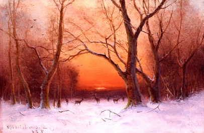 "Photo of ""WINTER SUNSET"" by NILS HANS CHRISTIANSEN"