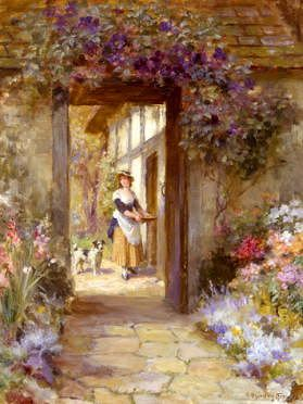 "Photo of ""THROUGH THE GARDEN DOOR"" by GEORGE SHERIDAN KNOWLES"