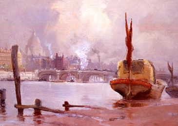 "Photo of ""THE RIVER THAMES & ST. PAUL'S CATHEDRAL, LONDON, ENGLAND"" by GEORGE HYDE POWNALL"