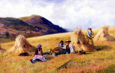 "Photo of ""HAYMAKING"" by PETER GHENT"
