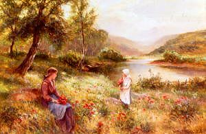 "Photo of ""GATHERING POPPIES"" by ERNEST WALBOURN"