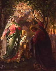 "Photo of ""DANTE AND BEATRICE"" by CARL WILHELM FRIEDERICH OESTERLY"