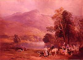 "Photo of ""SCOTTISH PEASANTS WASHING ON THE BANKS OF LOCH KILLIN,PERTHSHIRE"" by THOMAS MILES RICHARDSON"