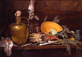 "Photo of ""STILL LIFE WITH COPPER EWER"" by ALEXANDER MANN"