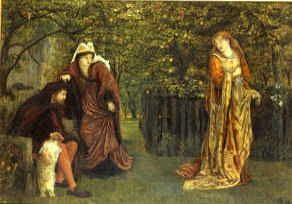 "Photo of ""SIR TRISTRAM AND QUEEN YSEULT, 1873"" by MARIA SPARTALI STILLMAN"