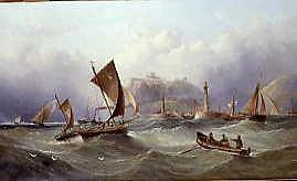 "Photo of ""FISHING BOATS OFF WHITBY,1875"" by HENRY REDMORE"