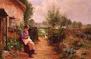 "Photo of ""OUTSIDE THE COTTAGE"" by ERNEST WALBOURN"