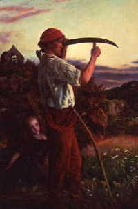 "Photo of ""THE MOWER."" by ARTHUR HUGHES"